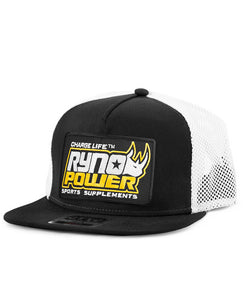 Charge Black Hat White Mesh Back