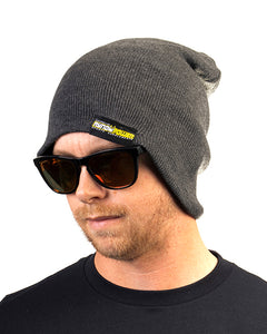 Beanie - Dark Gray Jersey Knit Stretch