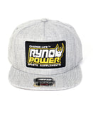 Heather Gray Snapback Hat
