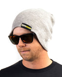 Beanie - Light Gray Jersey Knit Stretch