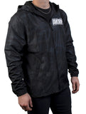 Lightweight Windbreaker Jacket - Black Camo
