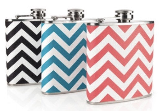 Chevron Patterned Flask