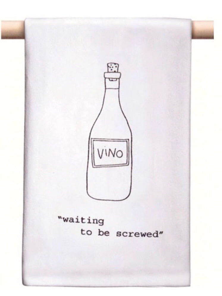 Waiting To Be Screwed Bar Towel