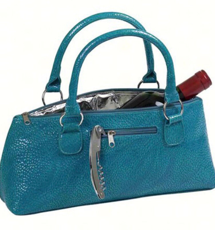 Wine Clutch - Blue Turquoise Serpentes