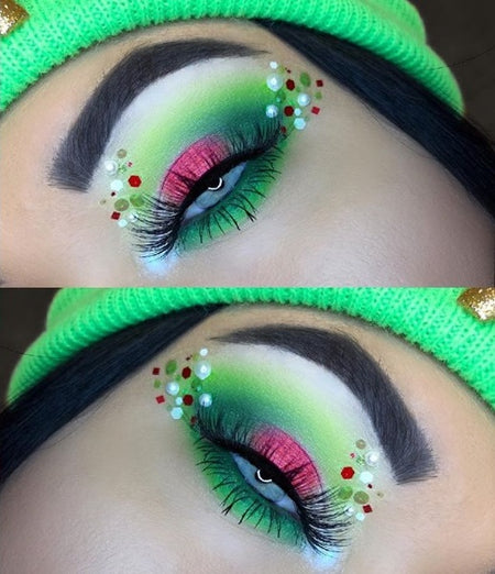 "Glitter Lambs ""Jingle Bell Rock"" Chunky Body Glitter worn @shamacmua 