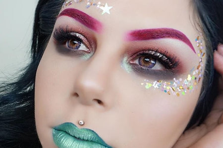 "@sierracone wearing Glitter Lambs ""MUA SuperStar"" chunky body glitter. Limited Edition!"