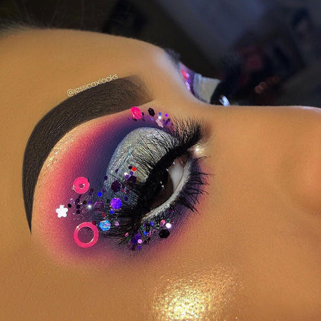 "Glitter Lambs ""Mr. Mint' Glitter from the Candy Land Glitter Collection worn by @jessicaxlooks"