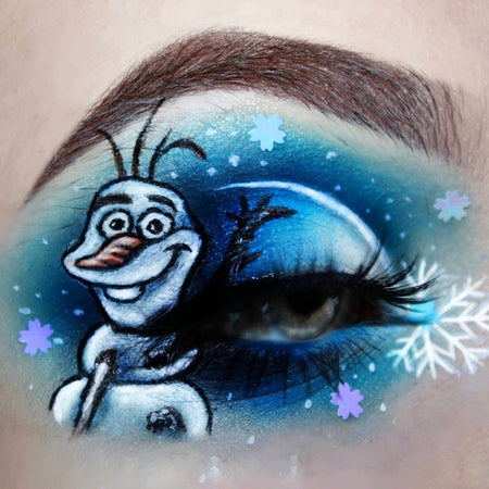 Frozen Olaf Makeup Look by @kaatmua Shop GlitterLambs.com