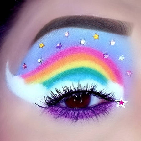 Over The Rainbow Makeup Look