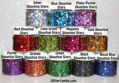 "Glitter Lambs Holographic ""Shooting Stars"" Body, Hair, Face, Skin Glitter"