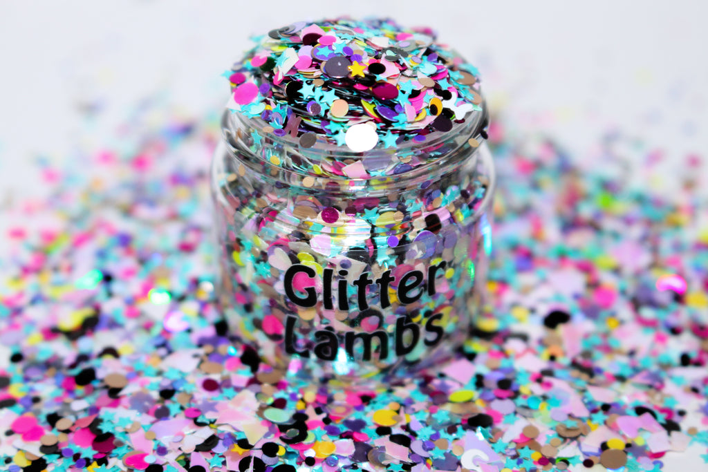 80's Cartoons Glitter by GlitterLambs.com | For crafts, nails resin, etc.