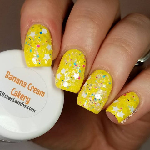 Glitter Lambs Banana Cream Cakery Nail Art Glitter www.GlitterLambs.com @apolishedcolleen