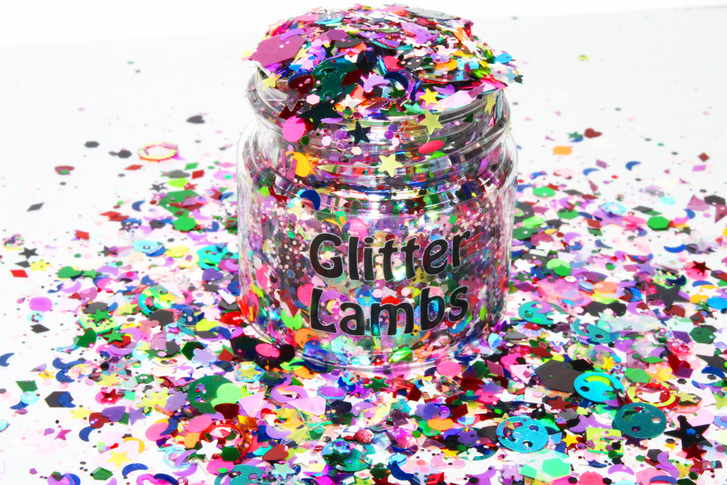 Because I'm Harley Freaking Quinn Glitter | For Crafts, Nails, Resin, Tumbler Cups, DIY Projects by GlitterLambs.com | Chunky Loose Glitter Mix by Glitter Lambs