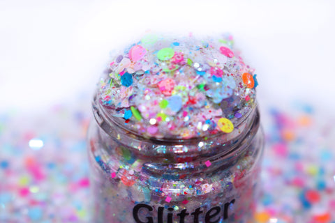 Care Bear Stare Glitter for crafts, nails, resin, etc by Glitter Lambs | GlitterLambs.com