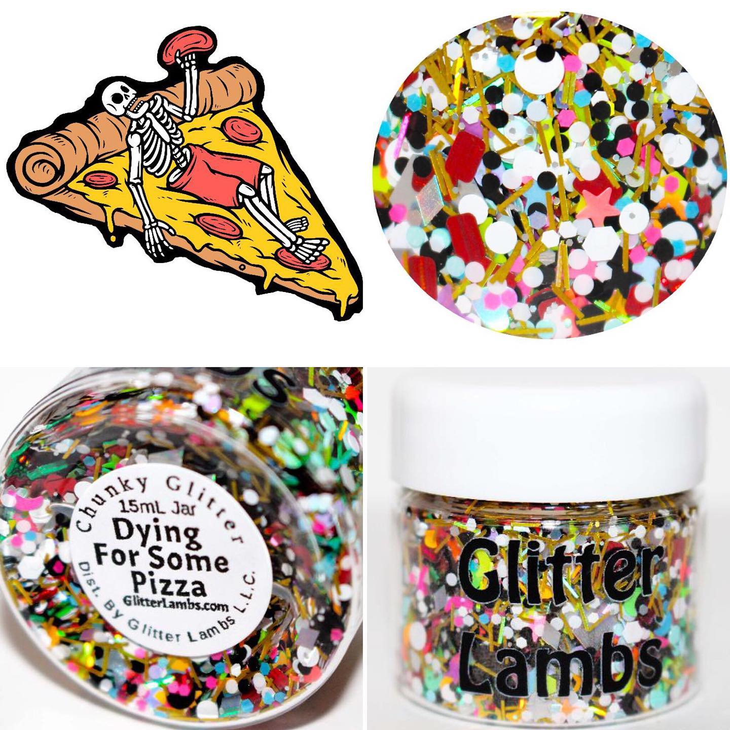 Dying For Some Pizza Glitter by GlitterLambs.com