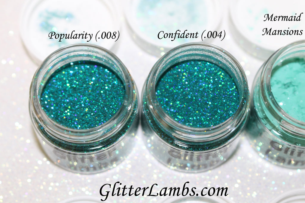 Glitter Lambs Body Face Hair Glitter Pots in Aqua Green and Blue GlitterLambs.com