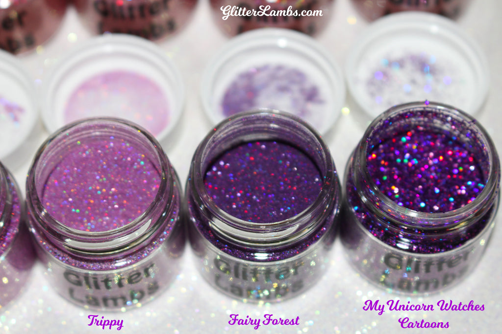 Trippy, Fairy Forest, My Unicorn Watches Cartoons Face, Hair & Body Glitter GlitterLambs.com