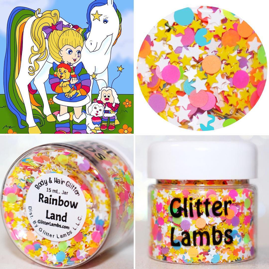 Rainbow Land Body Glitter by GlitterLambs.com