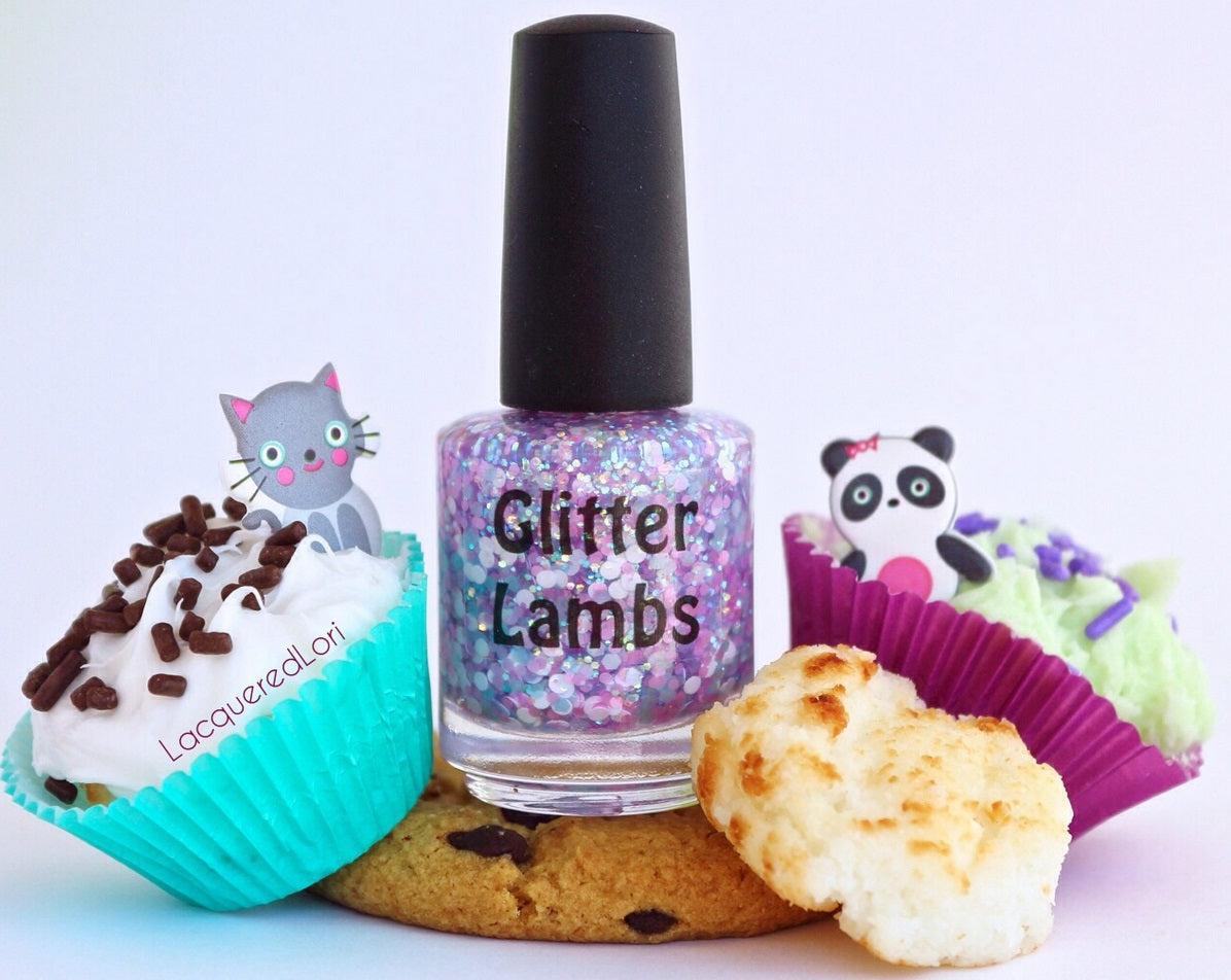 Glitter Lambs Nail Polish | Custom Handmade Glitter Topper Nail Polish Made In The United States