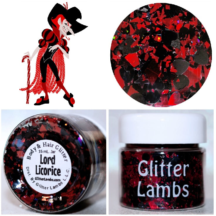 Lord Licorice from the Candy Land Glitter Collection. Shop GlitterLambs.com