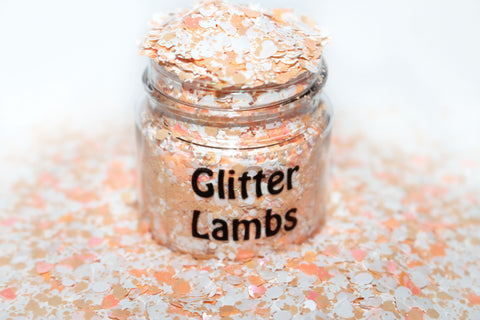 Orange Push Pops Glitter For Crafts, Nails, Resin, Tumbler Cups, Acrylic Pouring, DIY Projects, Tumbler Cups by GlitterLambs.com
