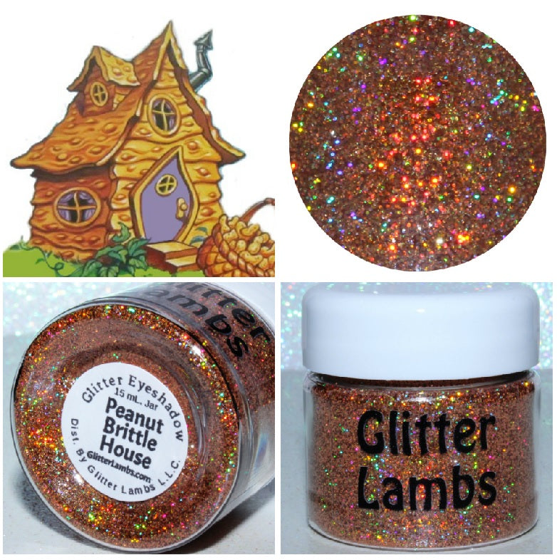 Peanut Brittle House from the Candy Land Glitter Collection by Glitter Lambs - GlitterLambs.com