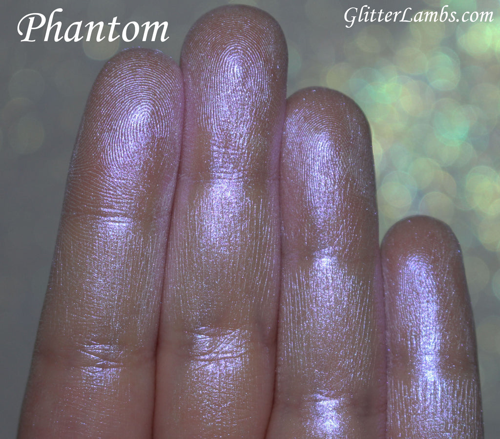 "Glitter Lambs ""Phantom"" highlighter with purple flash GlitterLambs.com"