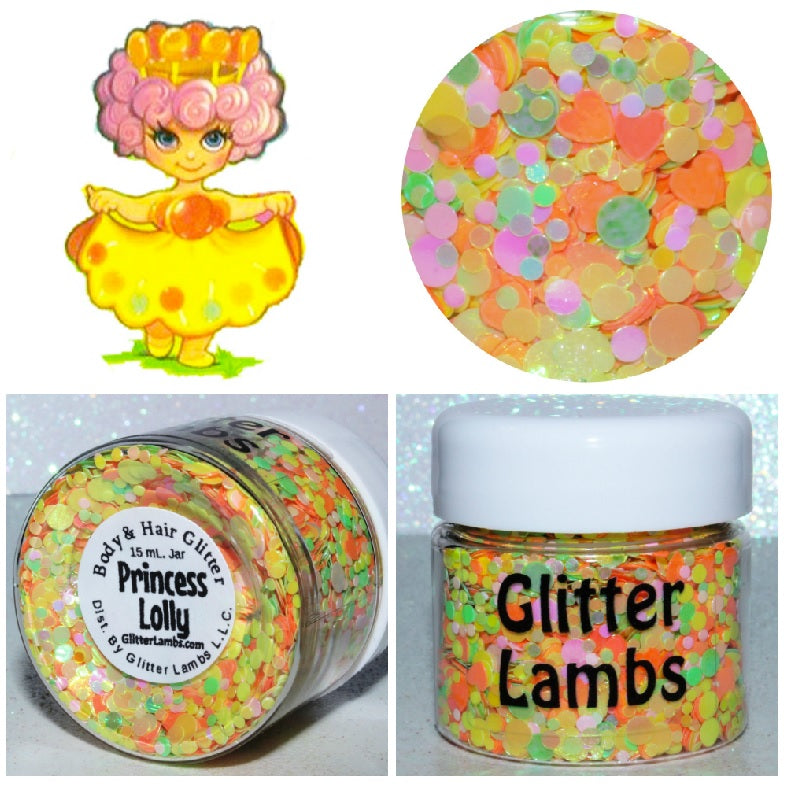 Princess Lolly from the Candy Land Glitter Collection by Glitter Lambs. Shop GlitterLambs.com