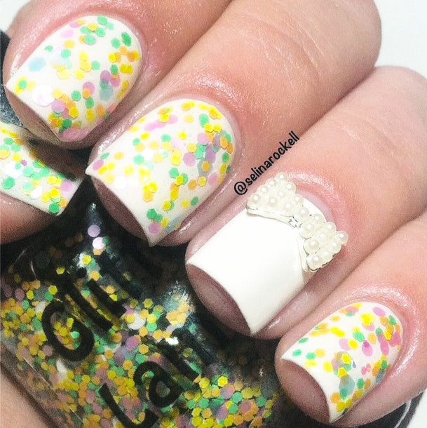 "Glitter Lambs ""Pastel Macarons"" Glitter Topper Nail Polish by Glitter Lambs 