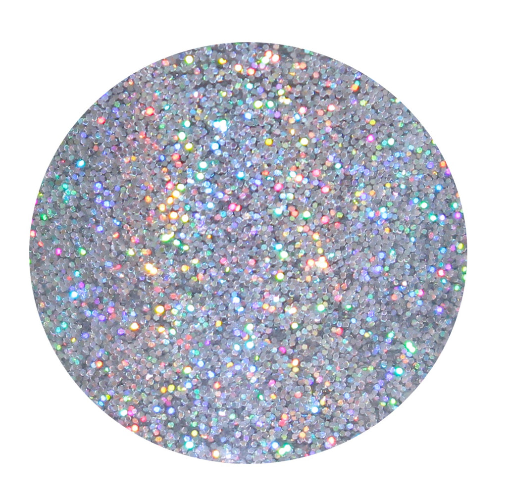 Silver Holographic Face, Hair & Body Glitter Pots GlitterLambs.com Superstar .008