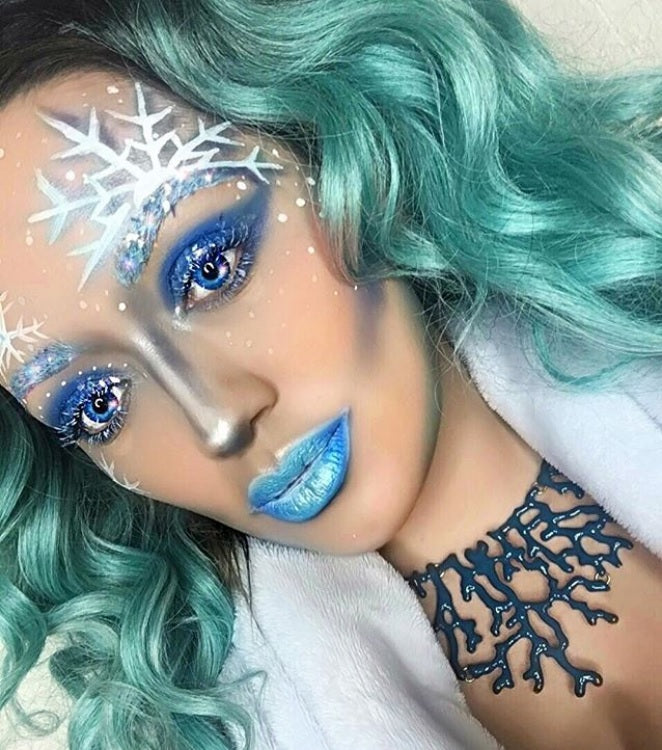 "@aileensgmakeup is wearing Glitter Lambs ""The Ice Queen"" chunky glitter in this Ice Queen Makeup Look"