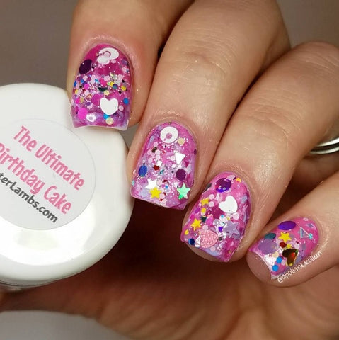 Glitter Lambs The Ultimate Birthday Cake Nail Art Glitter www.GlitterLambs.com @apolishedcolleen