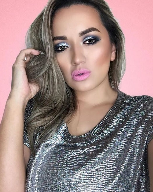 "@aileensgmakeup is wearing Glitter Lambs ""My Unicorn Threw A Pool Party"" chunky body glitter in the eye makeup look"