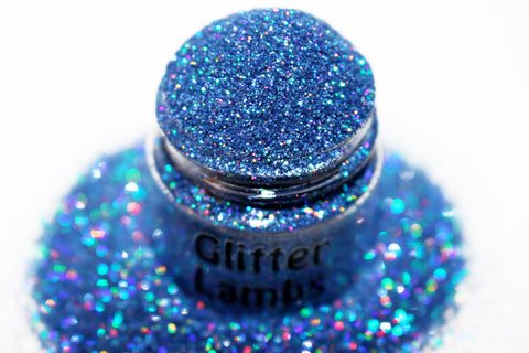 Baby Monster Went Blueberry Picking blue holographic glitter by GlitterLambs.com For crafts, nails, resin, etc