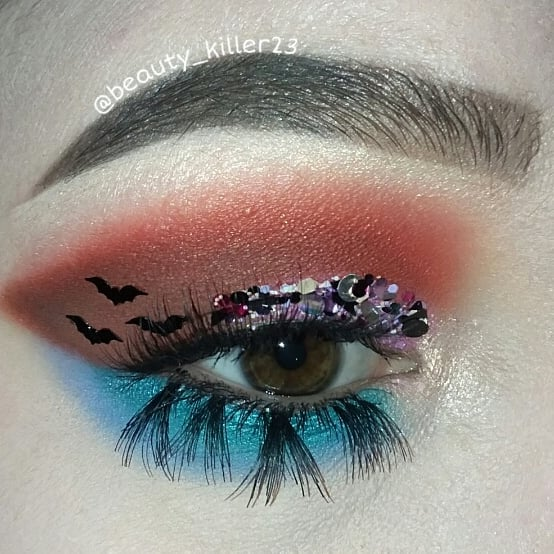 Pouty Bat Face and Maleficent Daisty Glitter by Glitter Lambs worn by @beauty_killer23