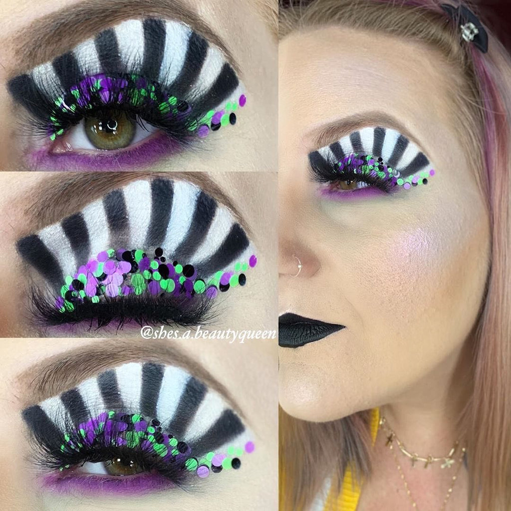"Glitter Lambs ""Beetlejuice"" Halloween glitter by GlitterLambs.com Worn by @shes.a.beautyqueen"