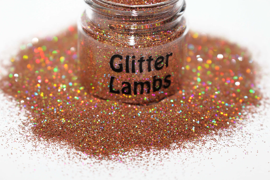 Peanut Brittle House Holographic Glitter by Glitter Lambs | GlitterLambs.com | For crafts, nails, resin, etc
