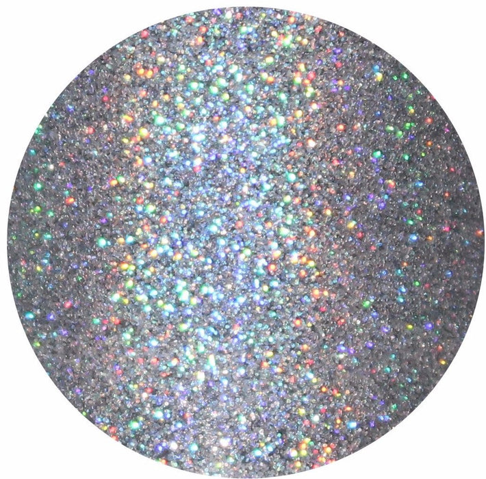 100% Educated Silver Holographic Cosmetic Glitter GlitterLambs.com Silver Holographic Makeup Glitter. Body Glitter. Face Glitter.