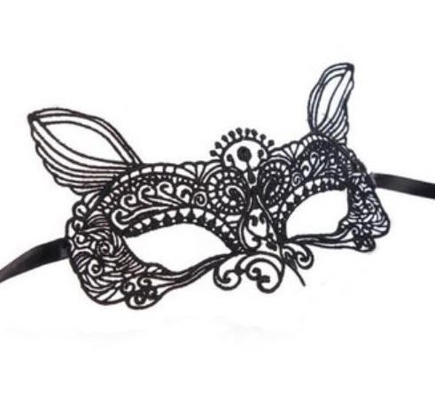 Masquerade Masks Black Lace Mask For Mardi Gras by GlitterLambs.com #mardigras #masks #facemasks #blackfacemasks #masquerademasks #glitterlambs #masquerade