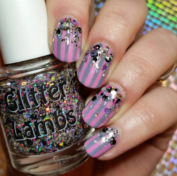 "Glitter Lambs ""Glitter Airbrushed"" Glitter Topper Nail Polish #nails #nailart #naildesigns #glitterlambs #glitternails"