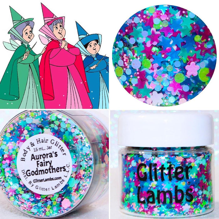"Glitter Lambs ""Aurora's Fairy Godmothers"" Sleeping Beauty Body Glitter by GlitterLambs.com"