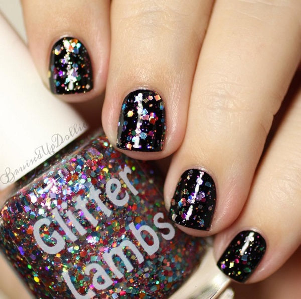 "Glitter Lambs ""A Twist Of Galaxy"" Glitter Topper Nail Polish #nails #glitternails #nailpolish #glitternailpolish #glitterlambs #nailart #naildesigns"