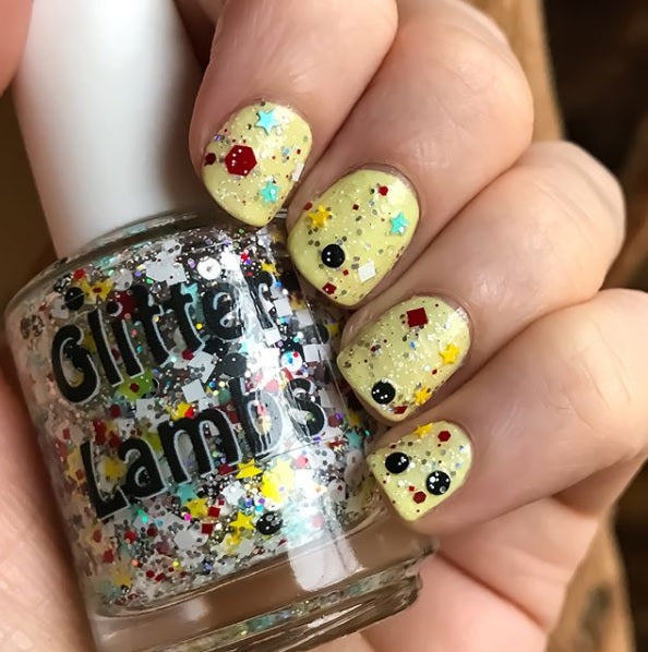 "Glitter Lambs ""Bunnies And Teacups"" glitter topper nail polish #nails #glitternails #nailpolish #polish #glitterlambs #glitternailpolish"