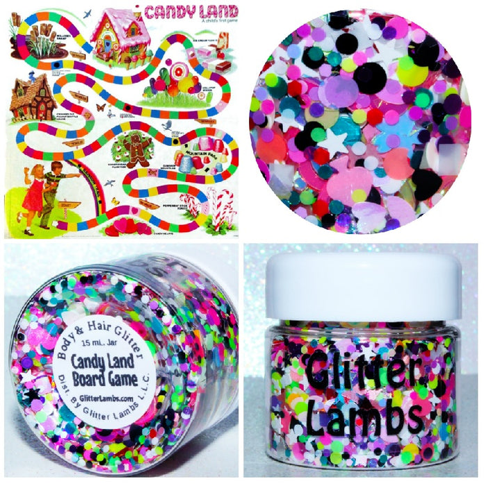Candy Land Board Game from the Candy Land Glitter Collection by Glitter Lambs | GlitterLambs.com