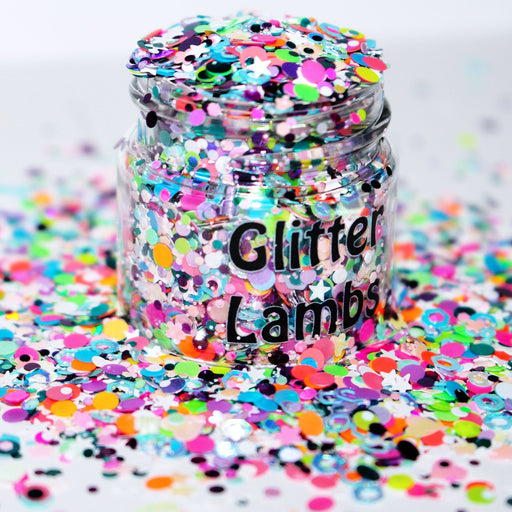 Care Bear Countdown Glitter. Great for arts, crafts, nails, resin,a acrylic pouring, etc.