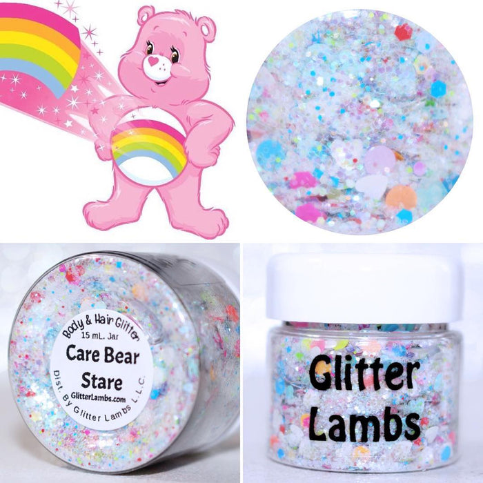 "Glitter Lambs ""Care Bear Stare"" Body Glitter by GlitterLambs.com"