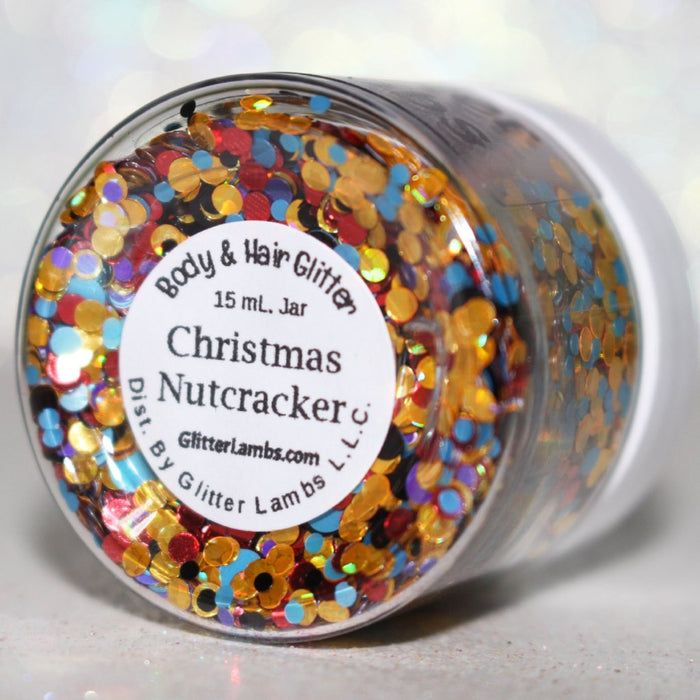 Christmas Nutcracker Christmas Chunky Body Glitter Glitter Lambs Hair Glitter