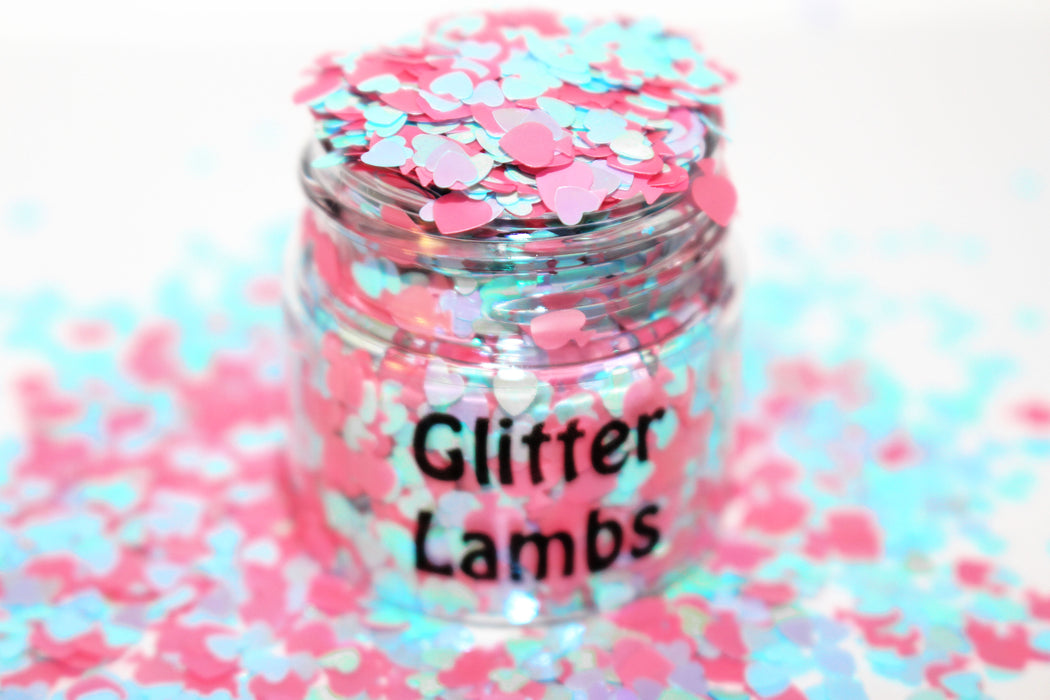 Cotton Candy Frosting Glitter. Great for crafts, nails, resin, etc. by GlitterLambs.com