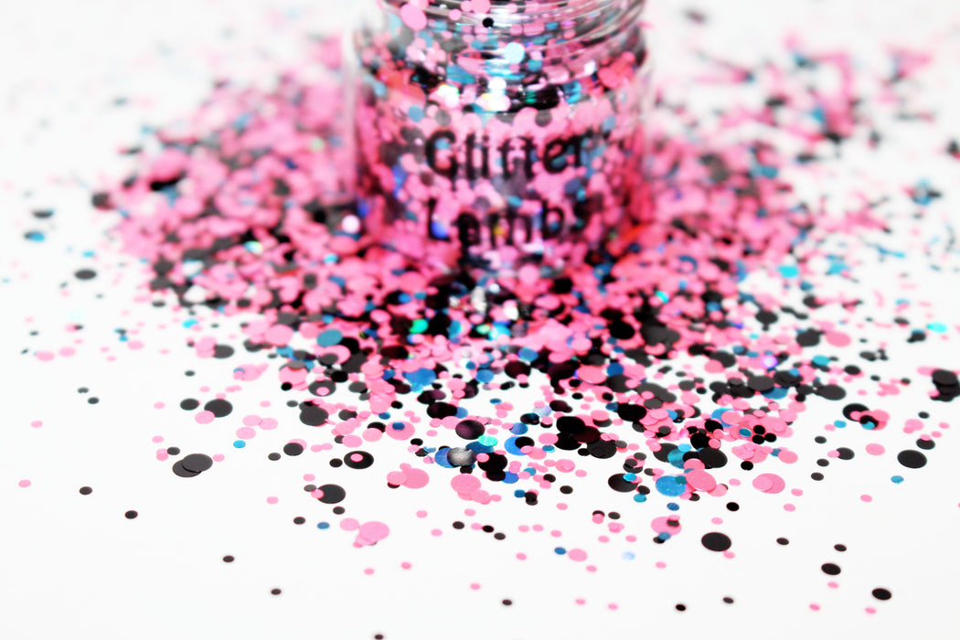 Cotton Candy Galaxy Glitter for crafts nails resin by GlitterLambs.com