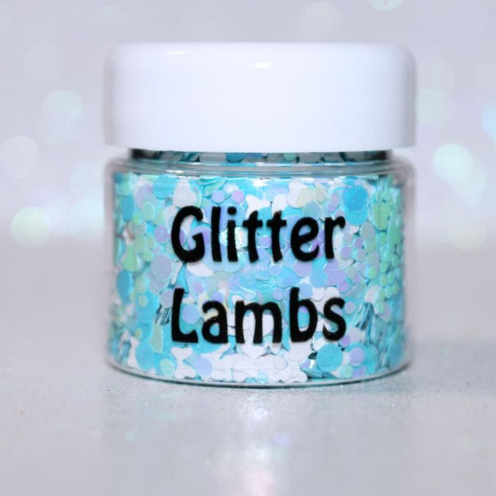 "Glitter Lambs ""Curiouser and Curiouser"" body glitter by GlitterLambs.com"